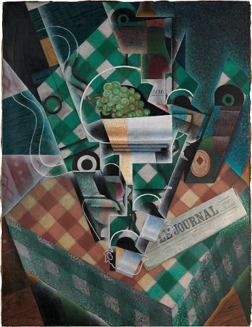 Juan Gris, Still Life with Checkered Tablecloth, 2015, oil and graphite on canva