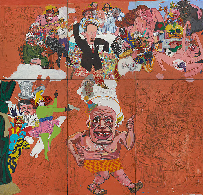 Red Grooms, Picasso Goes to Heaven, 1973 (© Red Grooms. All rights reserved. ARS