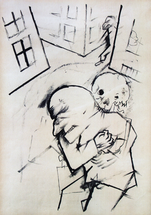George Grosz, Das Ende (The End), 1917, ink on Paper (courtesy of the New York S