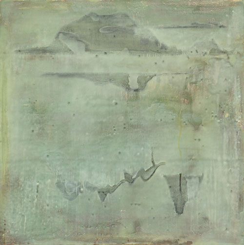 Guan Jingjing, Remnant Mountain, 12-13, 2012, tempera on canvas, 50 x 50 cm (© G