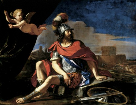 Giovanni Francesco Barbieri (Guercino), Mars With Cupid, Cincinnati Art Museum,
