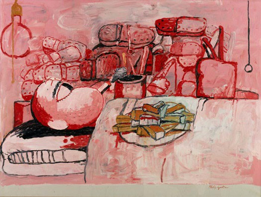 Philip Guston, Painting, Smoking, Eating, 1973, oil on canvas, 77.5 x 103.5 inch