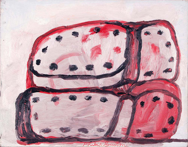 Philip Guston, Shoes, 1972, oil on panel, 11 x 14 inches (courtesy of McKee Gall