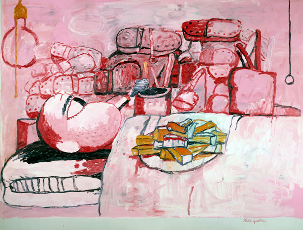 Philip Guston, Painting, Smoking, Eating, 77 x 103 inches, oil on canvas, 1972 (