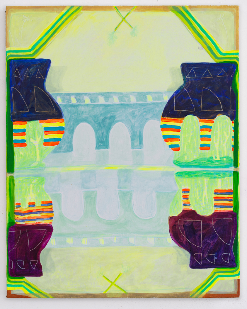 Catherine Haggarty, Twin Bridges, acrylic on canvas, 16 x 20 inches (courtesy of the artist)