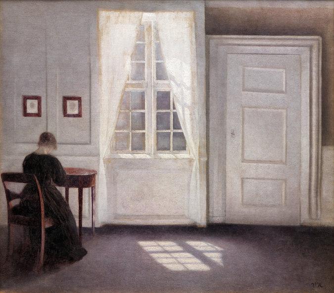 Vilhelm Hammershoi, Interior in Strandgade, Sunlight on the Floor, 1901 (Statens