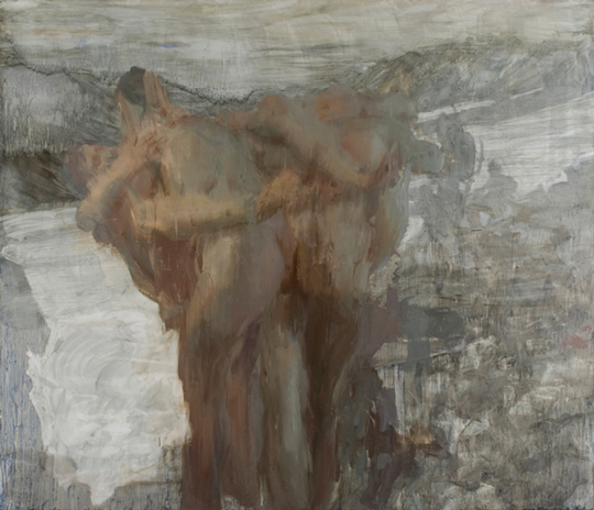Hanneline Rogeberg , Thaw, 7 x8 feet, oil on canvas, 2008 (source: hannelineroge