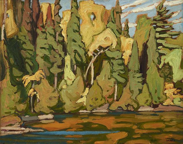Lawren Harris, Sand Lake - Algoma, oil on panel, 10.5 x 13.25 inches (courtesy L