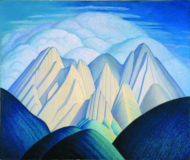 Lawren Harris, Untitled (Mountains Near Jasper), ca. 1934-40, oil on canvas, 50