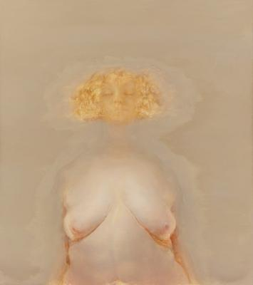 Anne Harris, Invisible (Blonde), 2011 - 2012, oil on linen, 33 1/2 x 30 inches (