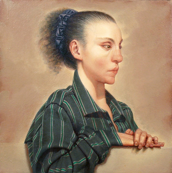 Anne Harris, Self-­portrait (Paul's Shirt), 1993, 20 × 20 inches (courtesy of Al