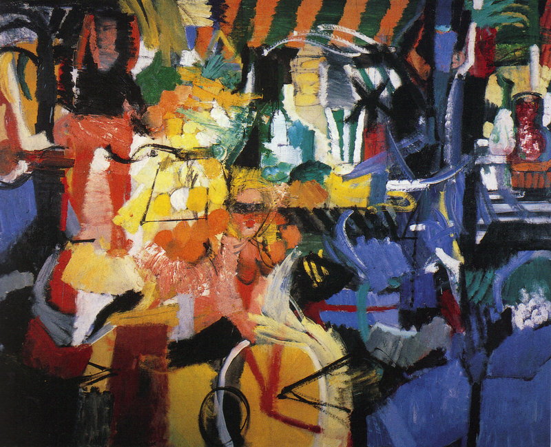 "Grace Hartigan, City Life, 1956, oil, 6' 9"" x 8'"