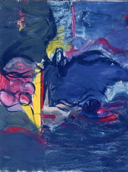 Grace Hartigan, Grey Eyed Athena, 1961, oil on canvas, 64 x 49 inches (Samuel Do