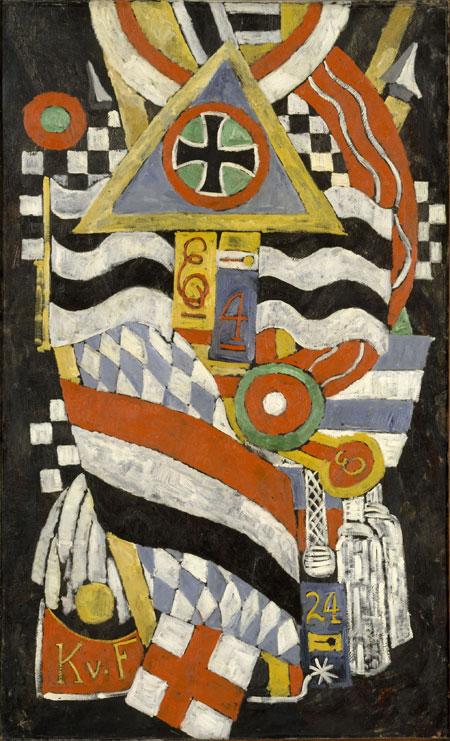 Marsden Hartley, Porträt eines deutschen Offiziers, 1914, Öl auf Leinwand (The M