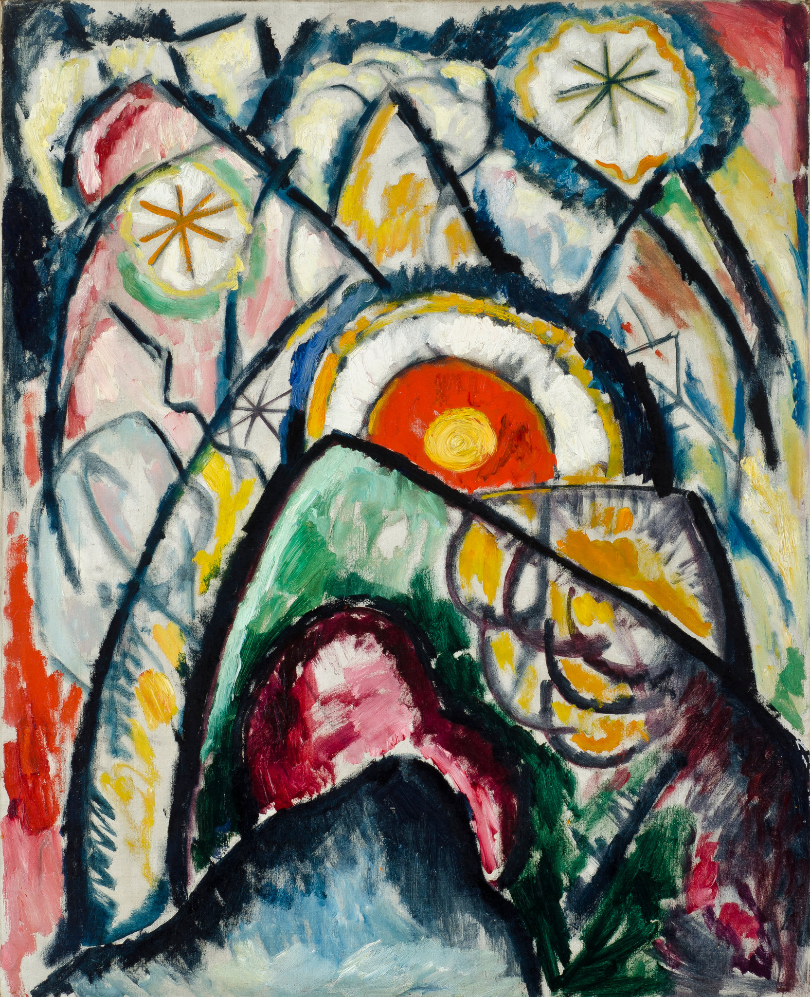 Marsden Hartley, Painting Number One, 1913 (Sheldon Museum of Art/University of