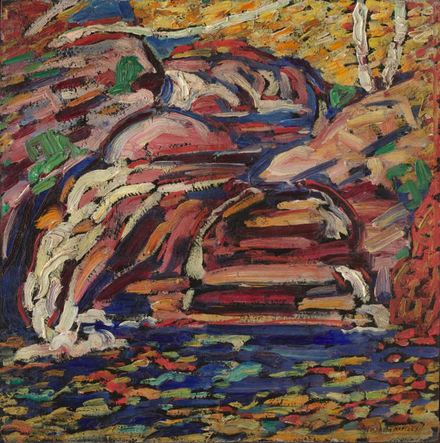 Marsden Hartley, Untitled (Maine Landscape), 1910, oil on board, 12 1/8 x 12 inches (Collection of Jan T. and Marica Vilcek, Promised Gift to The Vilcek Foundation)