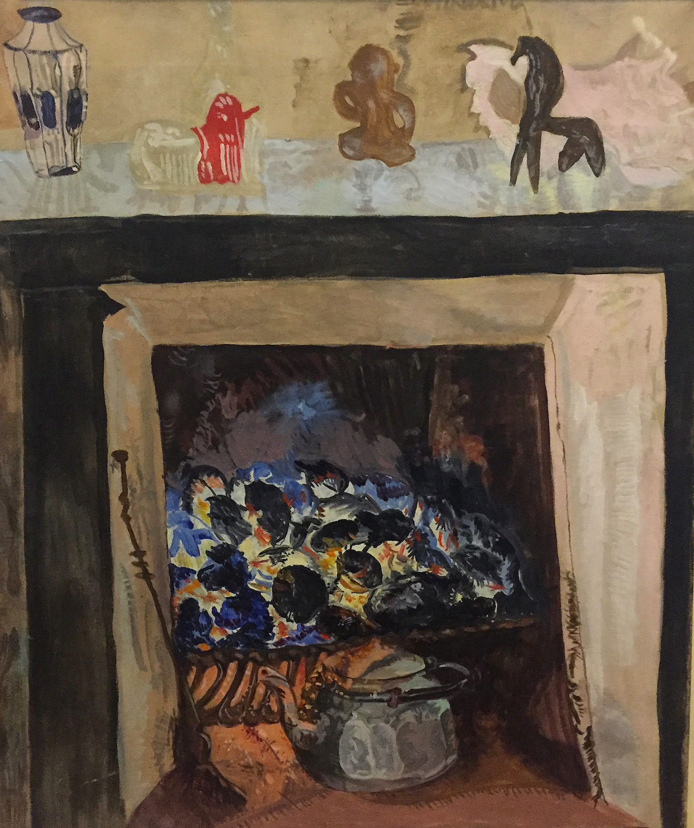 Anne Harvey, Fireplace, (n.d), oil on linen, 29 x 23 1/2 inches (courtesy Steven Harvey Fine Art Projects)