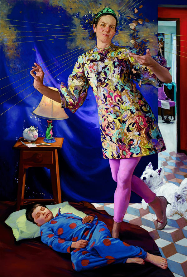 Haley Hasler, Portrait as Tooth Fairy 2012 oil on canvas 56 x 38 inches (courtes