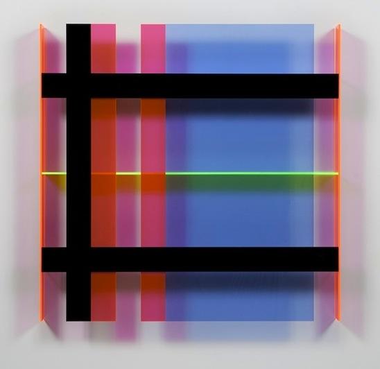 Christian Haub, A Float for Doug Ohlson, 2013, 36 x 36 x 3.5 inches, cast acryli