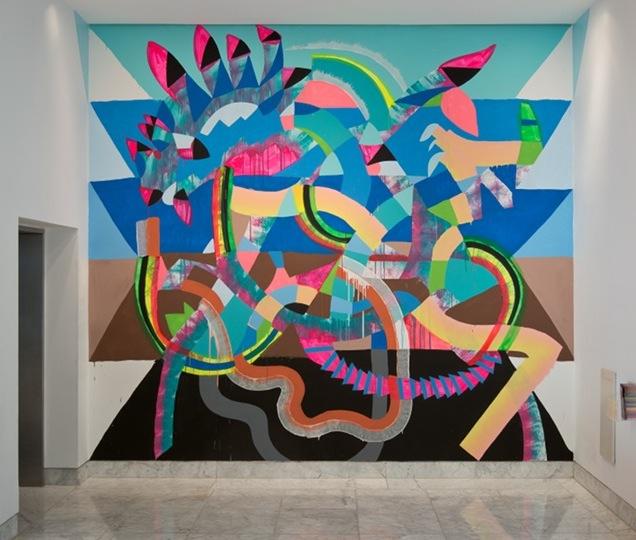 Maya Hayuk, Heavy Trails, 2013, Installation at the Hammer Museum, Los Angeles,