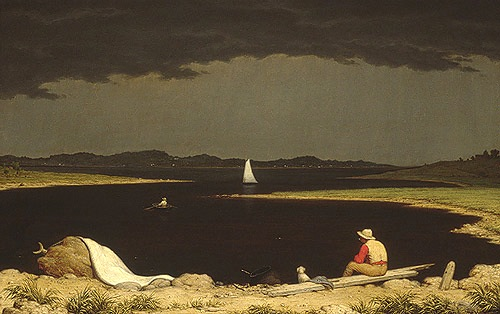 Martin Johnson Heade, Approaching Thunder Storm, 1859, oil on canvas, 28 x 44 in