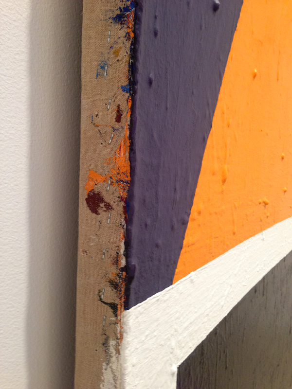 (detail of canvas edge) Al Held, Ivan the Terrible, 1961, acrylic on canvas 144
