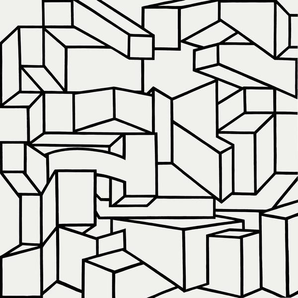 Al Held, B/W XI, 1968, acrylic on canvas, 120 x 137 1/2 inches (courtesy of Chei