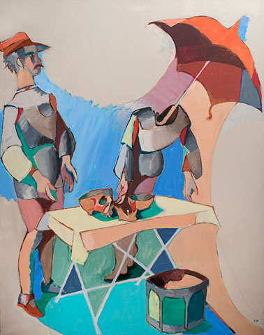 Jean Hélion, Mannequinerie en solde, 1978, acrylic on canvas, 57-1/2 x 45 inches