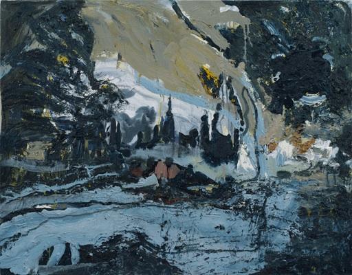 Susanna Heller, Dark Closing In, 2013. Oil on linen. 32 x 36 inches (courtesy of