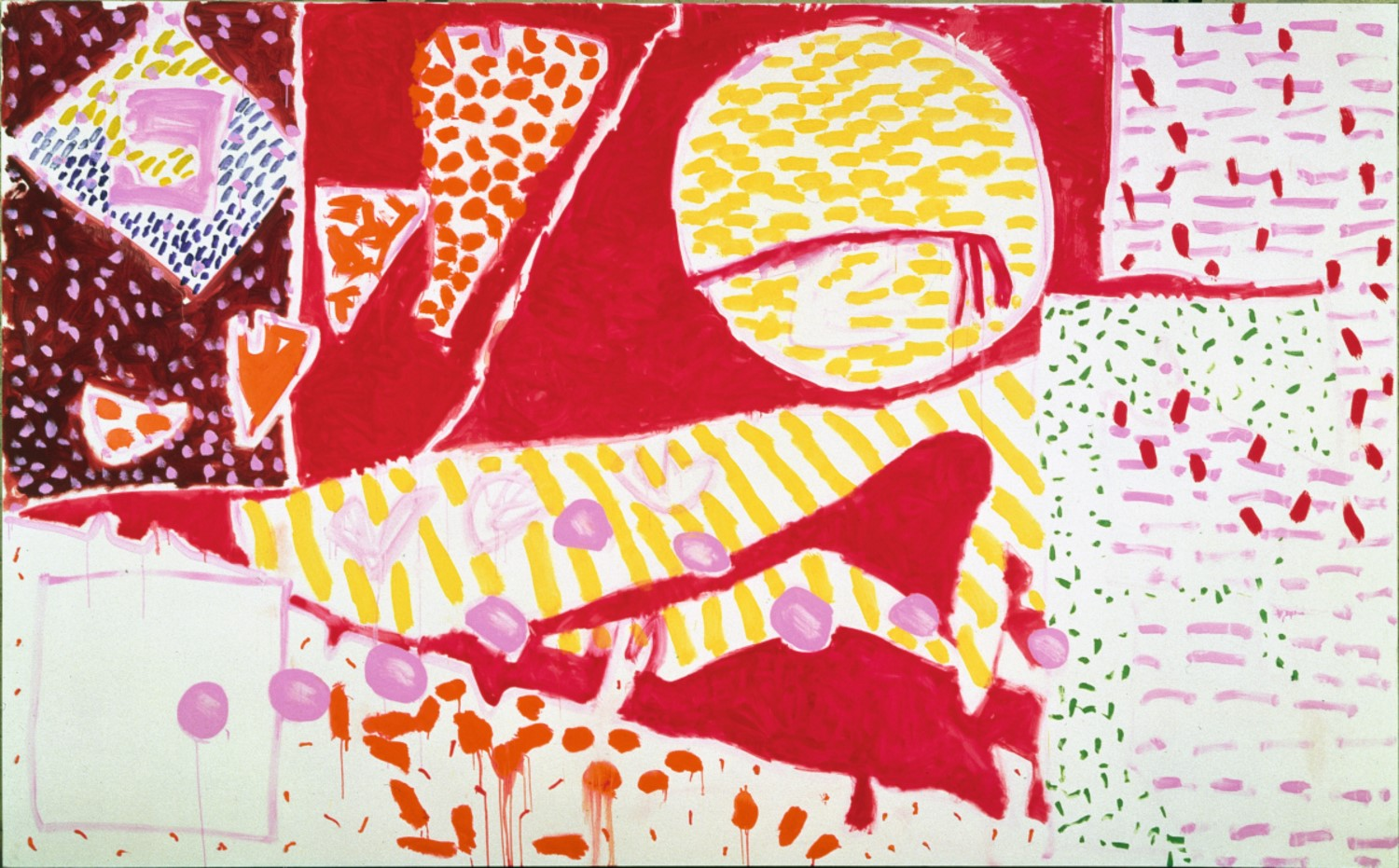 Patrick Heron, Red Garden Painting, June 3 – June 5 1985, oil paint on canvas (© Estate of Patrick Heron. All Rights Reserved, DACS 2018)