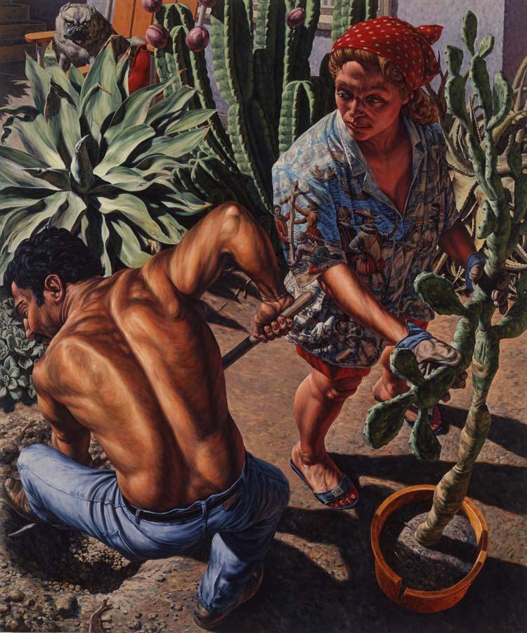 F. Scott Hess, Her Garden, 1990, oil on canvas (courtesy of the artist)