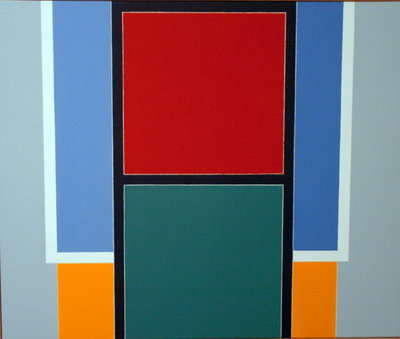 Felrath Hines, Stop Go - Go Stop, oil on linen (© The Estate of Felrath Hines)