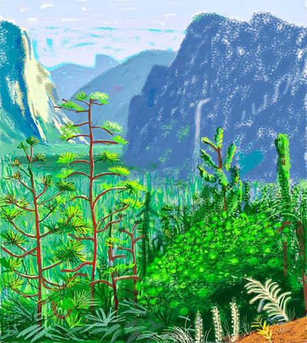 David Hockney, Yosemite I, October 16th 2011 (© 2013 David Hockney)