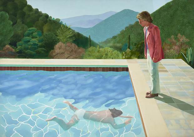 David Hockney, Portrait of an Artist (Pool With Two Figures), 1972 (photo: Art Gallery of New South Wales/Jenni Carter; © David Hockney)