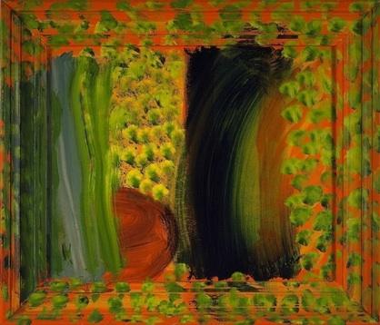 Howard Hodgkin, After Vuillard, 2002, oil on wood, 43 1/2 x 51 inches, 110.5 x 1
