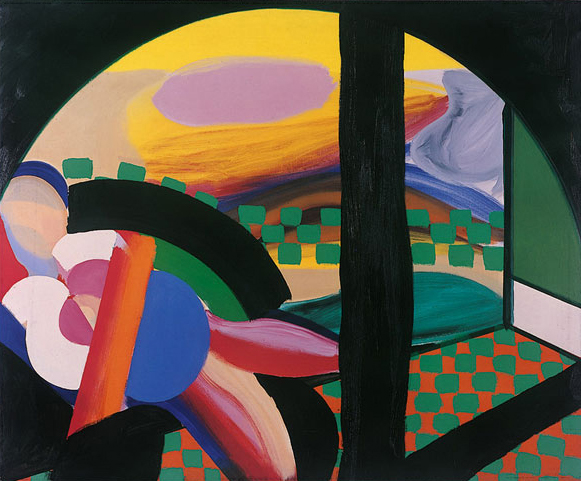 Howard Hodgkin, Mrs Acton in Delhi, 1967-71, oil on canvas, 122 x 148 cm (© Howard Hodgkin. Courtesy: the artist, Gagosian and The Hepworth Wakefield)