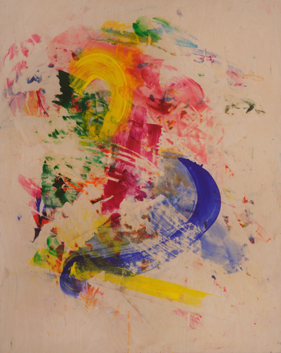 George Hofmann, Way After 2, 2014, acrylic on board, 48 x 38 inches (courtesy of