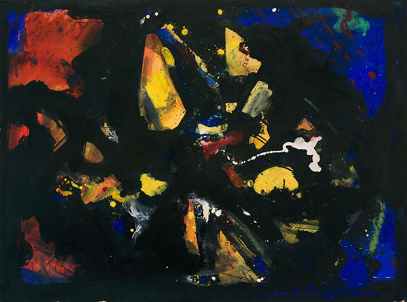 Hans Hofmann, Shapes in Black, 1944, Oil on panel, 30 1/2 x 41 inches (courtesy