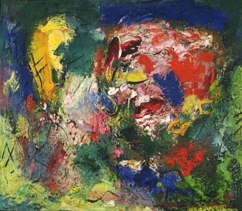 Hans Hofmann, Flowering Desert, 1953, oil on canvas, 23 3/4 x 27 inches (Clenden