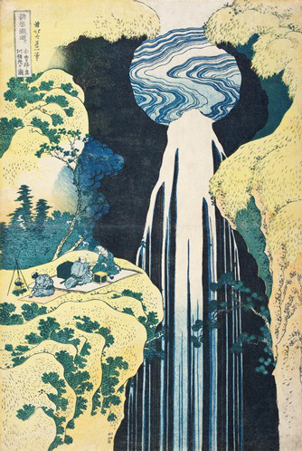 Katsushika Hokusai, Amida Falls on the Kiso Highway, c. 1833, (Los Angeles Count