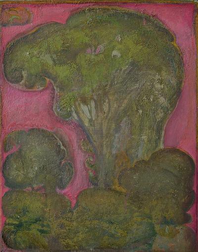 Eric Holzman, Elm, 2008-14, oil on canvas,  20 x 16 inches (courtesy of Lori Boo