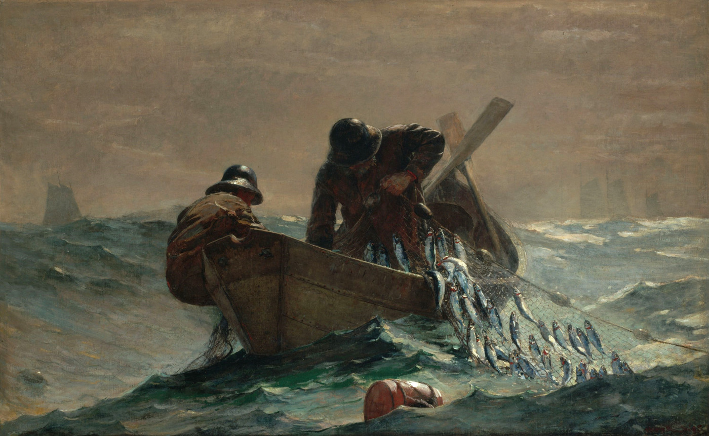 Winslow Homer, The Herring Net, 1885, oil on canvas, 30 1/8 x 48 3/8 inches (Art