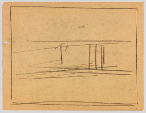 Edward Hopper, Study for Nighthawks (verso), 1941 or 1942, fabricated chalk on p