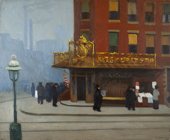 Edward Hopper, New York Corner (Corner Saloon), 1913, oil on canvas (Cantor Arts
