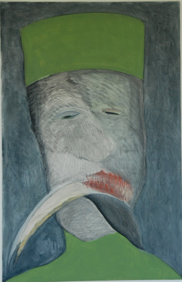 Basil King, Horatio, 1996, oil on canvas, 26 x 40 inches (© Basil King)