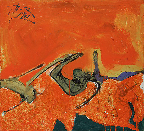 Hassel Smith, Untitled (HS0063) 1959–60  Oil on canvas  20 ¼ x 22 inches (courte