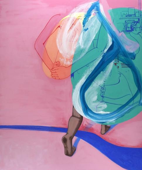 David Humphrey, Crossing, 2015, acrylic on canvas, 72 x 60 inches (courtesy of Fredericks & Freiser)