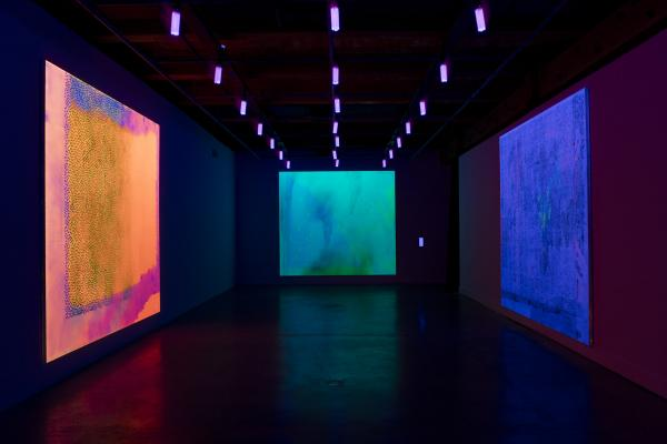 Installation view: Jacqueline Humphries at the Contemporary Art Center of New Or