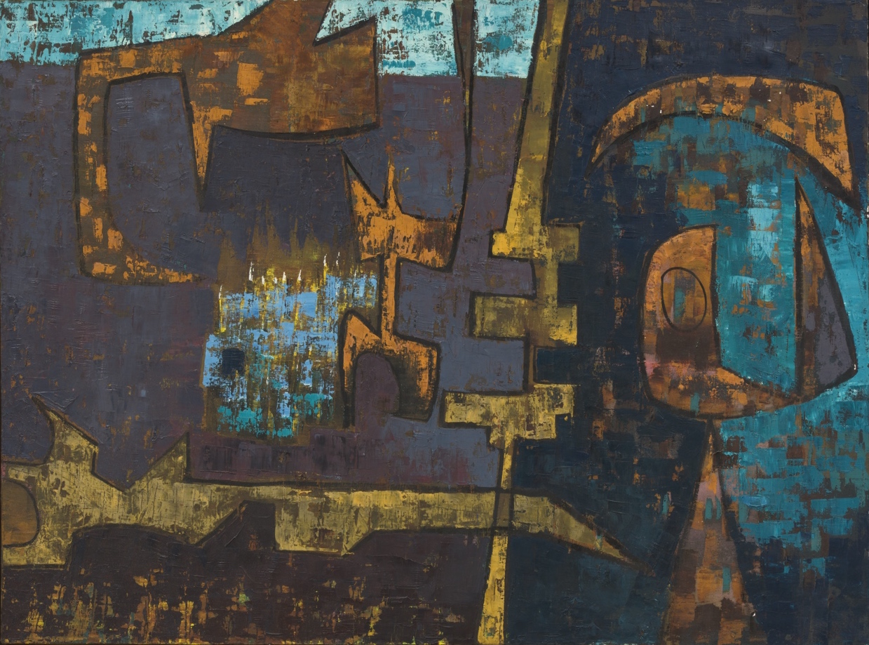 Luchita Hurtado, untitled, 1952, oil on canvas, 28 x 36 inches (courtesy of Park View Gallery)