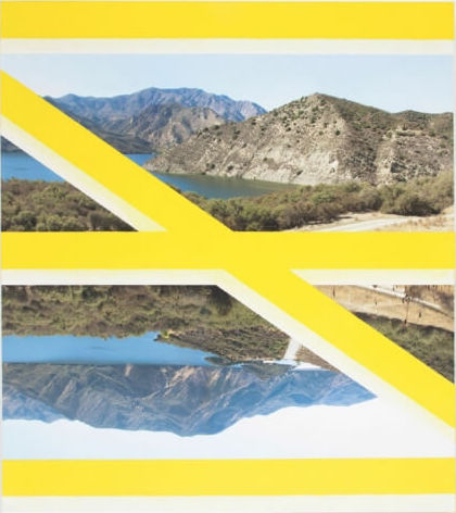 James Hyde, Crossing (Yellow), 2013, acrylic on archival inkjet print on stretched linen, 49.5 x 44 inches (courtesy of Freigh+Volume)